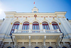 Townhall of Tampere. Townhall (Raatihuone) of Tampere located in Finland, at bright sunny day Royalty Free Stock Photos