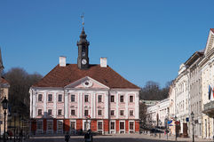 Townhall in Tartu stock photo
