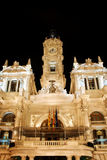 Townhall, Valencia night, Spain Stock Photography
