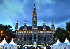 Townhall von Wien, Österreich Lizenzfreie Stockbilder