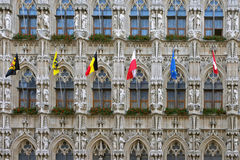 Townhole facade in Leuven Stock Image