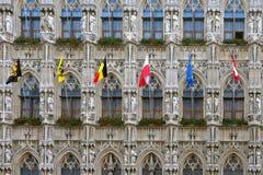 Townhole facade in Leuven. Belgium Stock Image