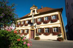 Townholl famoso Lauchheim immagine stock