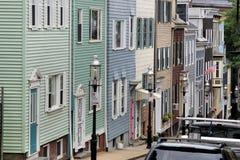 Townhomes dans une ligne Photographie stock libre de droits