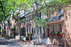 Townhomes de Philadelphfia Fotos de Stock