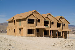 Townhomes en construction Photographie stock libre de droits