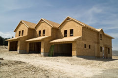 Townhomes en construction Photographie stock