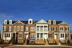 Townhomes luxuosos Foto de Stock Royalty Free
