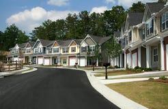 Townhomes ou condomínios Imagem de Stock