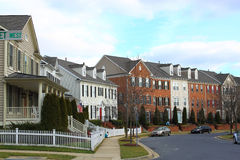 Townhouse. S in Small Town Residential Area Royalty Free Stock Photo