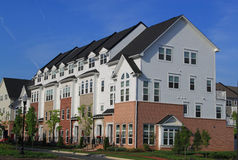 Townhouse. New Townhouses on blue sky Royalty Free Stock Photos