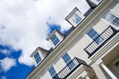 Townhouse. Against a summer sky Royalty Free Stock Image