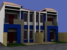 Townhouse. Nice exterior design can be used for office, home, or house