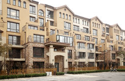 Townhouse apartment. A newly built townhouse apartment in Beijing Royalty Free Stock Photos