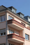 Townhouse with balconies Stock Photo