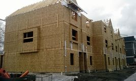 Townhouse construction site Royalty Free Stock Photography