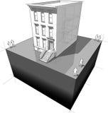 Townhouse diagram Stock Photos