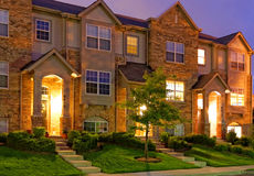 Townhouse at Dusk Royalty Free Stock Images