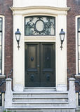 Townhouse Entrance Door. Dutch Townhouse Entrance Door in The Hague royalty free stock photography