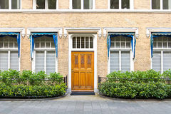 Townhouse Entrance Front Door Royalty Free Stock Photos