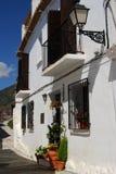 Townhouse Frigiliana, Spanien. royaltyfri foto