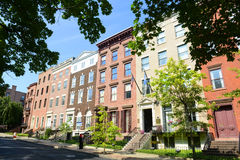 Townhouse at Lafayette Park, Albany, NY, USA Royalty Free Stock Images