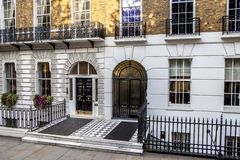 TownHouse in London. View of the front porch of two townhouse in the center of London Royalty Free Stock Image