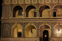 Townhouse at night,. Old Market, Pozna Stock Photography