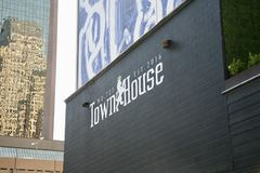 Townhouse Night Club. At TownHouse you will find a two story uber exclusive nightclub screaming chic and stylish. Concepted on the look and feel of a London city Royalty Free Stock Images