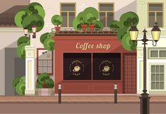 Townhouse shop Stock Photo