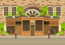 Townhouse shop Stock Images