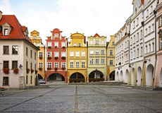 Townhouse square in Jelenia Gora. Poland.  Stock Images