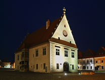 Townhouse  on Town Hall square (Radničné námestie) in Bardejov Stock Photos
