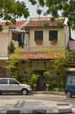 Townhouse. A typical domicile in a quiet area of Georgetown, Malaysia Stock Image