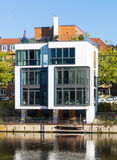 Townhouse at the waterside, Hamburg Royalty Free Stock Photo