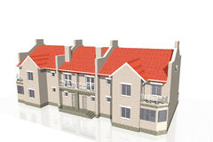 Townhouse on white Stock Images