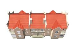 Townhouse on white Royalty Free Stock Photos
