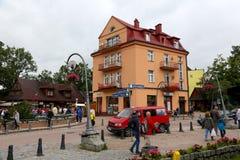 Townhouse in Zakopane that is at Krupowki street Stock Images