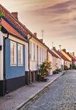 Townhouses σε Simrishamn Σουηδία στοκ φωτογραφίες