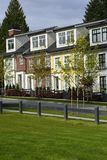 Townhouses. Modern townhouses in a suburban setting Royalty Free Stock Image