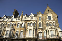 Townhouses. A row of victorian townhouses in England Royalty Free Stock Photos