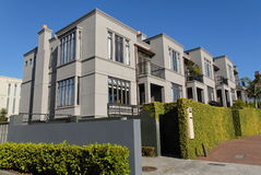 Townhouses. A row of modern townhouses, Parnell, Auckland, New Zealand Stock Photography
