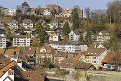 Townhouses in Bern, Switzerland Royalty Free Stock Photography