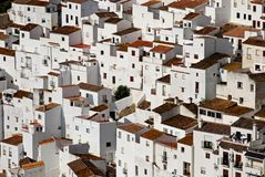 Townhouses Casares. View of townhouses, pueblo blanco, Casares, Costa del Sol, Malaga Province, Andalucia, Spain, Western Europe Royalty Free Stock Photography