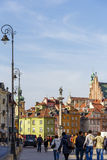 Townhouses at the Castle Square in Warsaw Royalty Free Stock Photo
