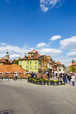 Townhouses at the Castle Square, Warsaw Royalty Free Stock Photo