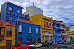 Townhouses in the center of Tazacorte Stock Photos