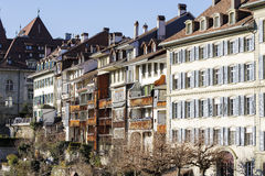 Townhouses in city center of Bern Royalty Free Stock Image