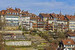 Townhouses in city center of Bern, Switzerland Stock Image