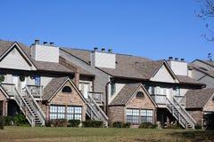 Townhouses da parte alta Fotos de Stock Royalty Free